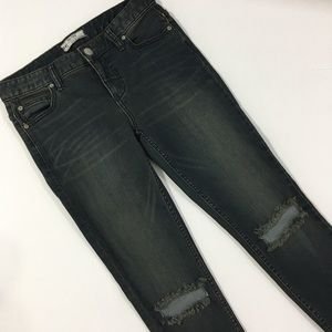 Free People Distressed Tinted Skinny Ankle Jeans